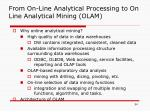 from on line analytical processing to on line analytical mining olam
