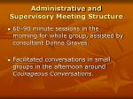 administrative and supervisory meeting structure