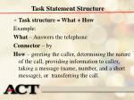 task statement structure