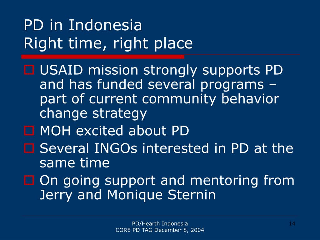 PD in Indonesia