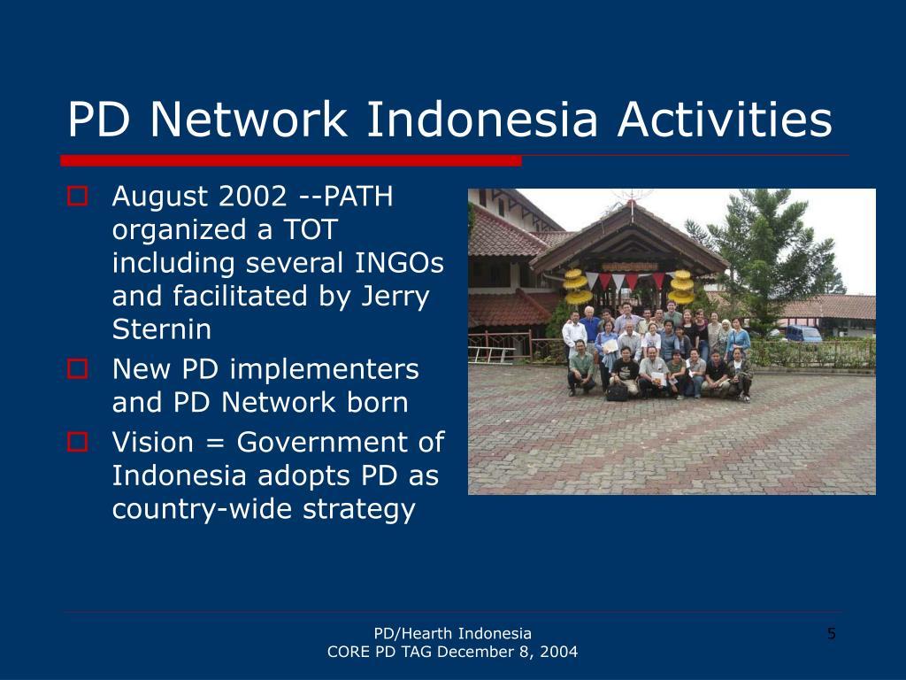 PD Network Indonesia Activities