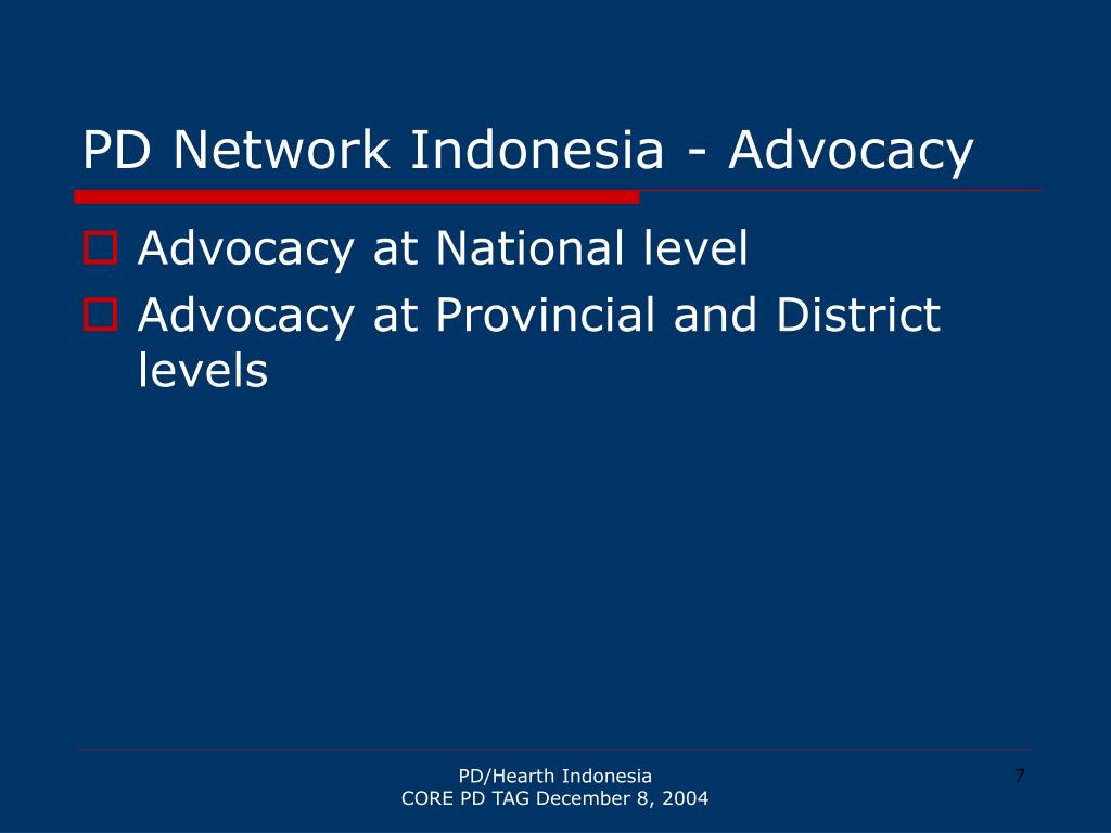 PD Network Indonesia - Advocacy