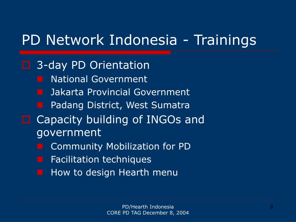 PD Network Indonesia - Trainings