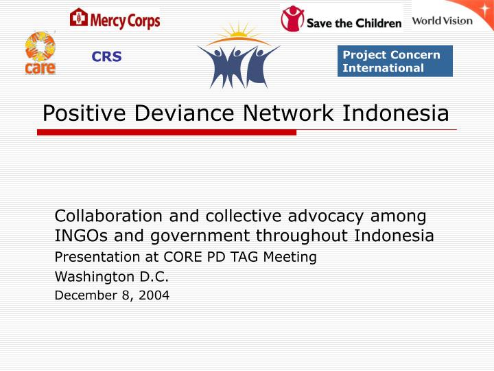 Positive deviance network indonesia