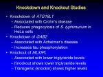 knockdown and knockout studies