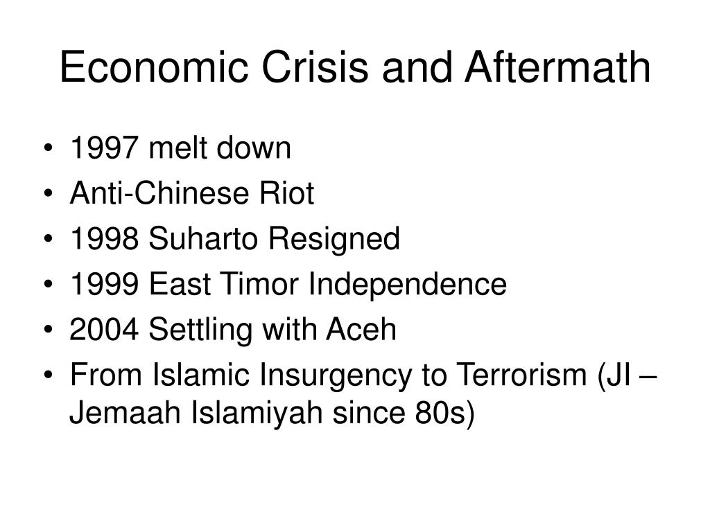 Economic Crisis and Aftermath