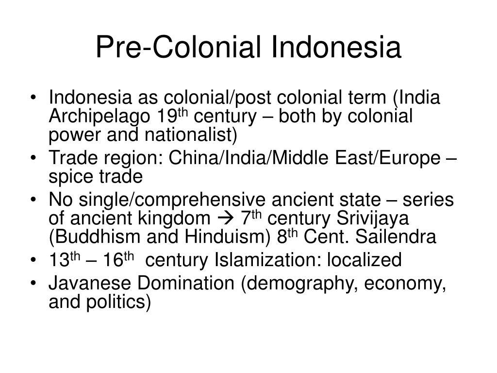 Pre-Colonial Indonesia