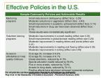effective policies in the u s1
