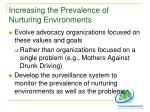 increasing the prevalence of nurturing environments