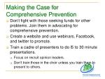 making the case for comprehensive prevention1