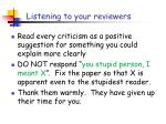 listening to your reviewers1
