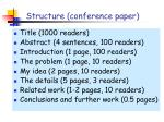 structure conference paper