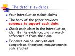 the details evidence