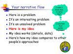 your narrative flow