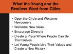 what the young and the restless want from cities