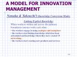 a model for innovation management10