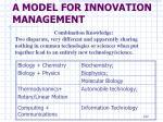 a model for innovation management17
