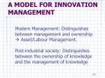 a model for innovation management18
