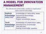 a model for innovation management2