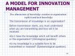a model for innovation management3