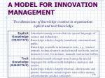 a model for innovation management5