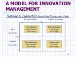 a model for innovation management7
