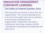 innovation management corporate learning