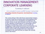 innovation management corporate learning11