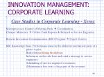 innovation management corporate learning4
