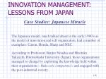 innovation management lessons from japan