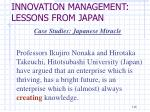 innovation management lessons from japan1