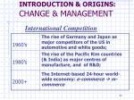 introduction origins change management1