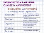 introduction origins change management10