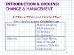 introduction origins change management9
