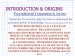introduction origins9