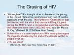 the graying of hiv
