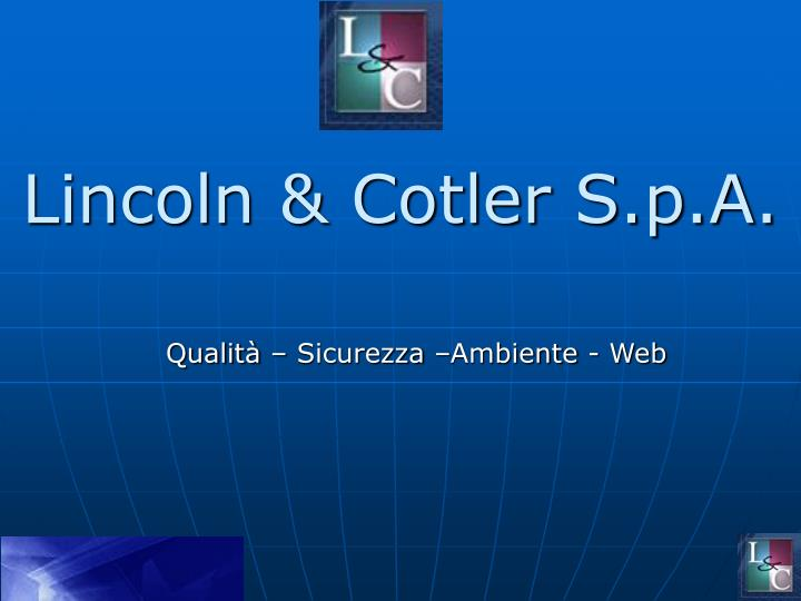 lincoln cotler s p a n.