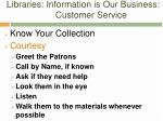libraries information is our business customer service