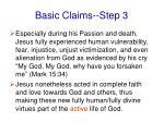 basic claims step 31