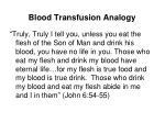 blood transfusion analogy