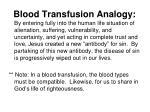 blood transfusion analogy1