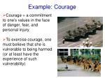 example courage