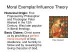 moral exemplar influence theory