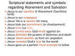 scriptural statements and symbols regarding atonement and salvation