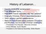 history of lebanon