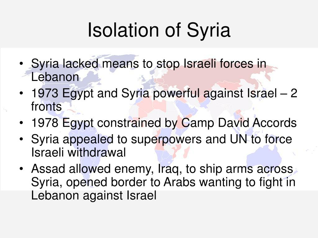 Isolation of Syria