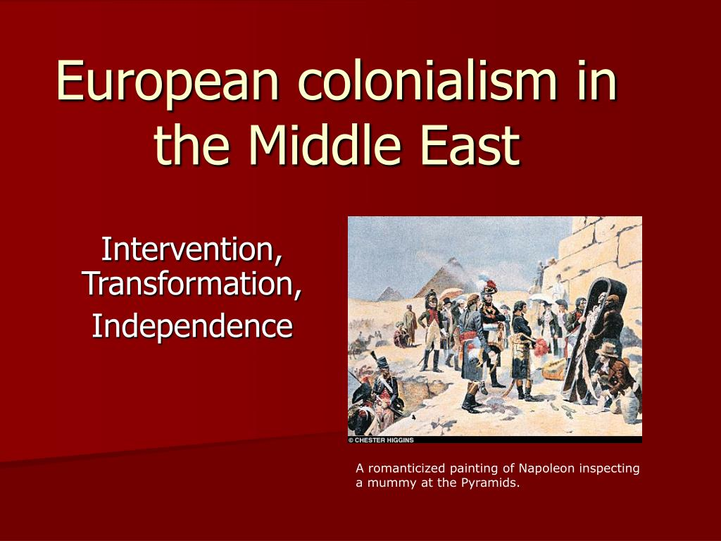 european colonialism in the middle east l.