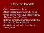 outside the mandate