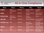 all in one compliance