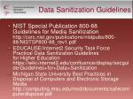 data sanitization guidelines